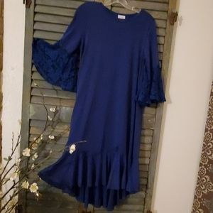 EUC Gorgeous Blue LuLaRoe dress